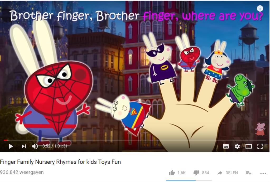 Kinderliedjes op YouTube