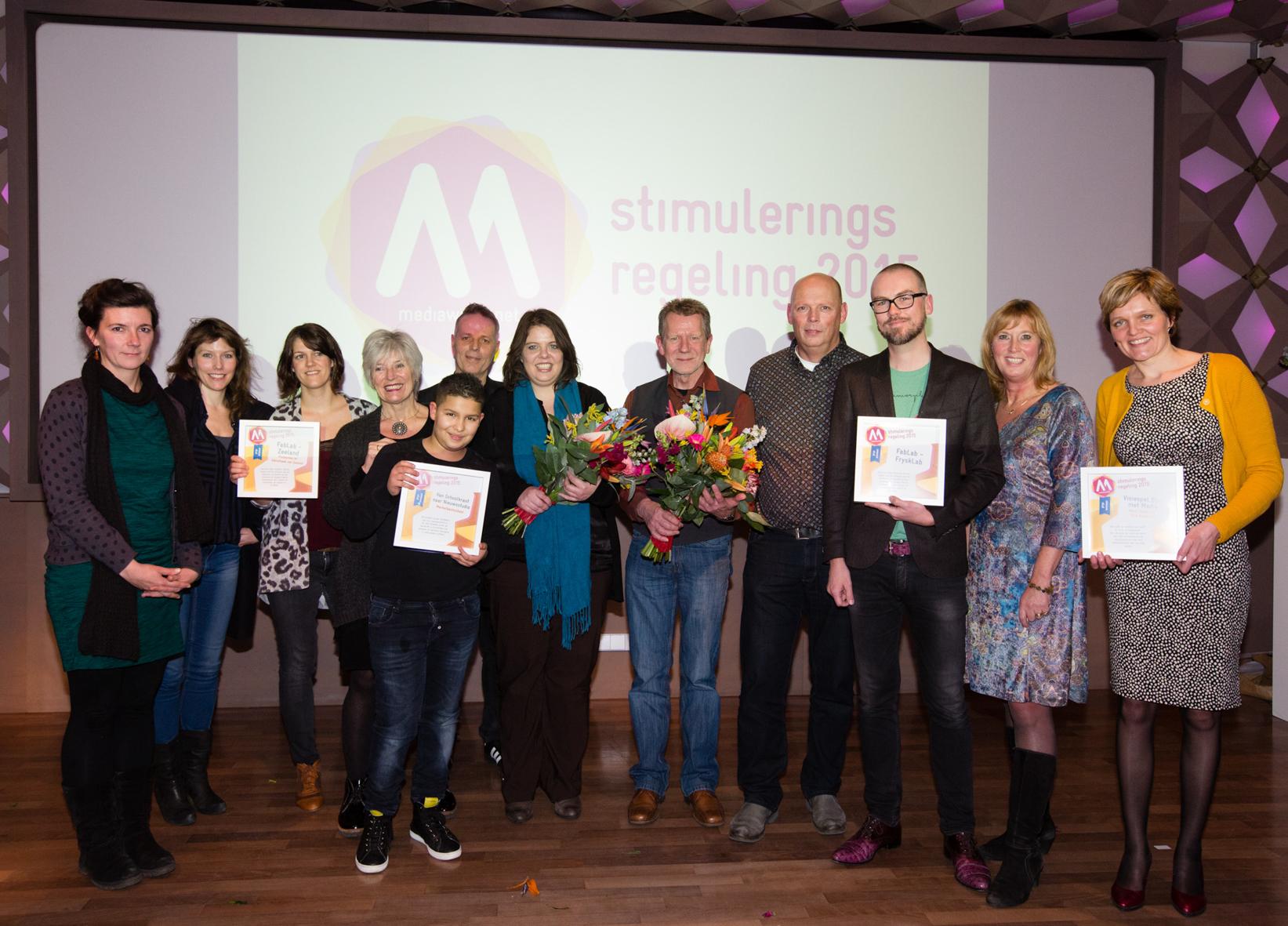 Prijswinnaars aanmoedigingsprijs