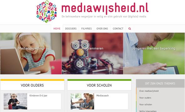 Vernieuwde homepage mediawijsheid.nl