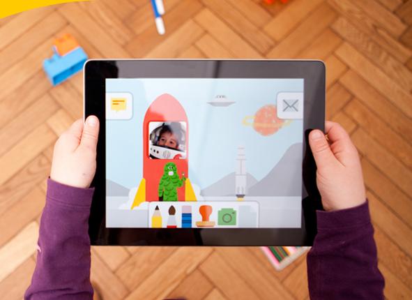 Bijvoorbeeld bij Maily, een mailprogramma voor kinderen (onder 6 jaar) en hun (groot) ouders waarin mailers met collage en tekenen berichten maken. Het zelf maken van de mail is de kern van het succes.