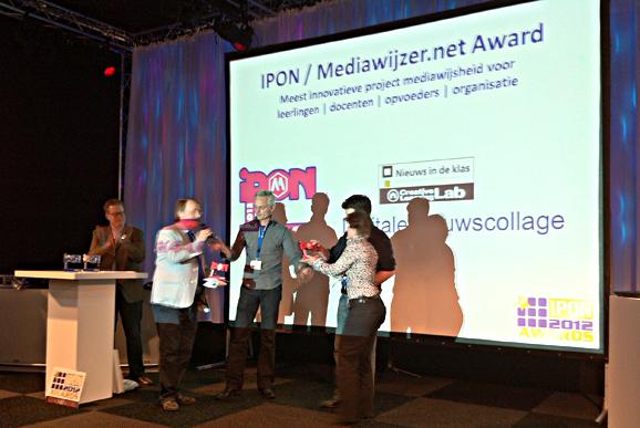 Digitale Nieuwscollage winnaar IPON Mediawijzer.net Award