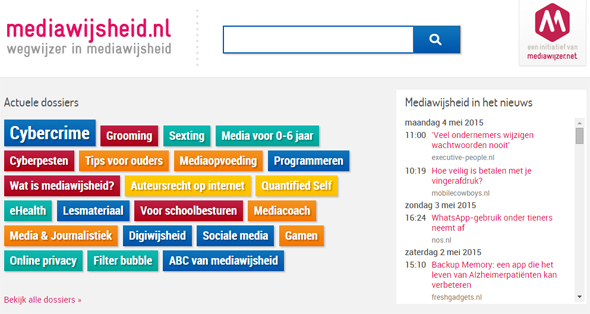 Tagcloud mediawijsheid.nl