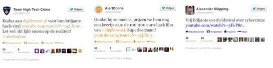 Positieve tweets bij viral hackerfilmpje DigiBewust