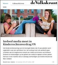 volkskrant 24 november 2014 manifest recht op mediawijsheid