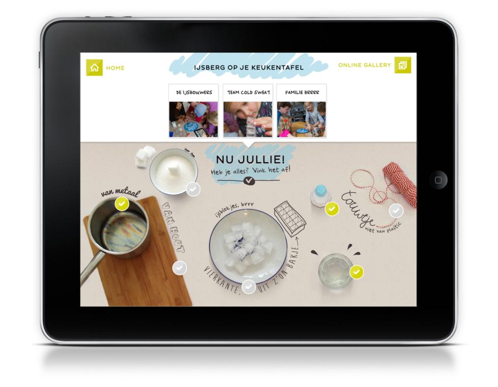 Dat hebben we bijvoorbeeld gedaan in de Zoek het uit-app [http://www.youtube.com/watch?v=gI1ntH3fIXc] van het Klokhuis: daarin is de app een tool om samen te kunnen spelen.
