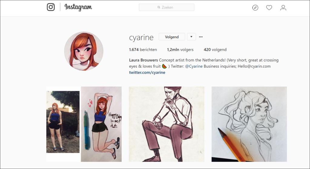 Bron: Instagramaccount van Cyarine