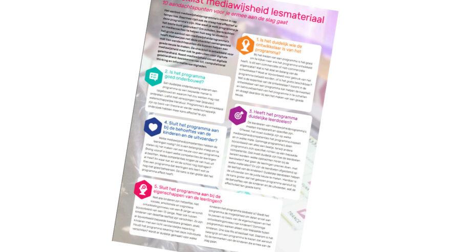 checklist,lesmateriaal