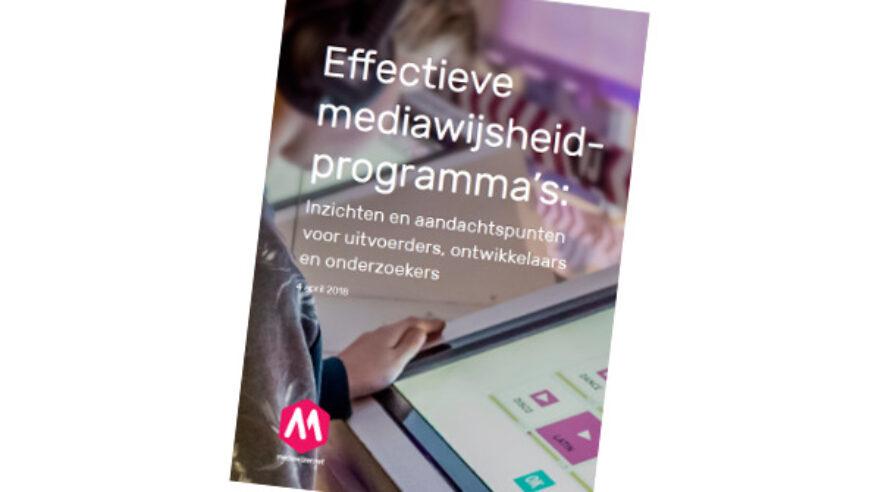mediawijsheidprogramma's,effectiviteit,rapport