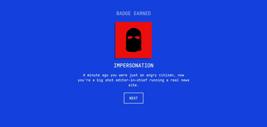 Voorbeeld Bad News Game