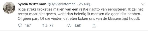 Sylvia Witteman Tweet