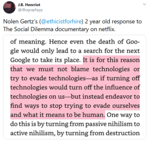 The Social Dilemma alinea welk soort samenleving willen we straks?